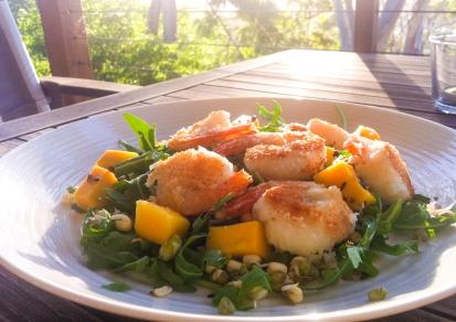 Coconut Prawns & MangoSalad
